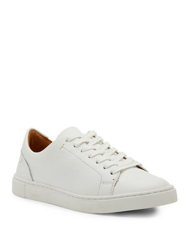 Frye Ivy Low Lace Up Sneakers-WHITE-10