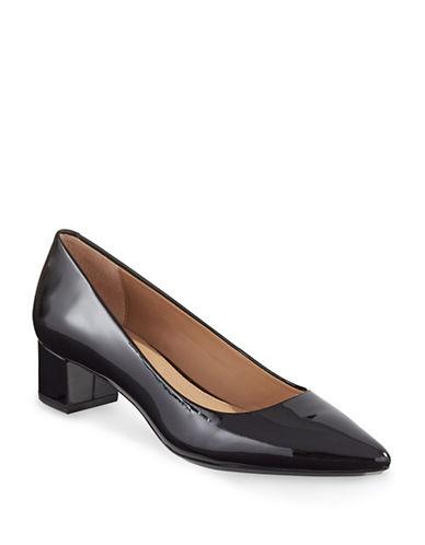 Calvin Klein Genoveva Block-Heel Pumps-BLACK-9