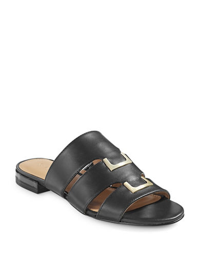 Calvin Klein Evita Slip-On Sandals-BLACK-5.5