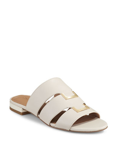 Calvin Klein Evita Banded Sandals-WHITE-10