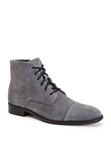Calvin Klein Darsey Oily Suede Dress Boots-GREY-11