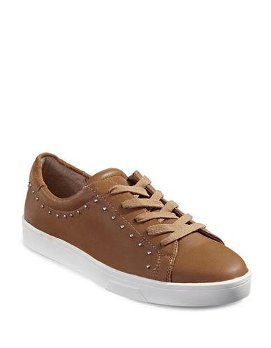 Calvin Klein Illia Cervo Studded Leather Sneakers-BEIGE-7.5