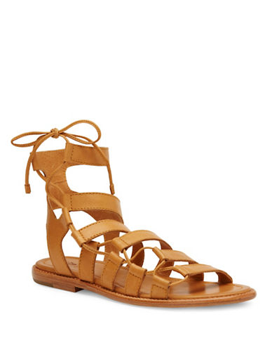 Frye Blair Leather Side Ghillie Sandals-BEIGE-8