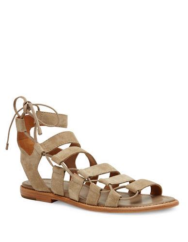 Frye Blair Leather Side Ghillie Sandals-GREY-8