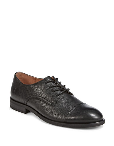 Frye Scott Cap Toe Shoes-BLACK-12