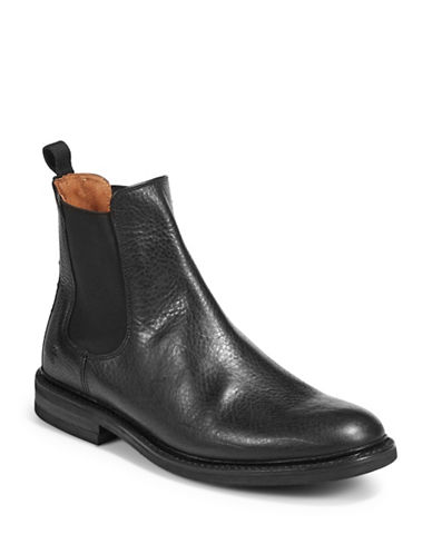 Frye Leather Chelsea Boots-BLACK-10