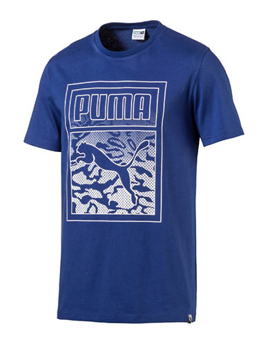 Puma Archive Graphic Logo Tee-BLUE-Medium