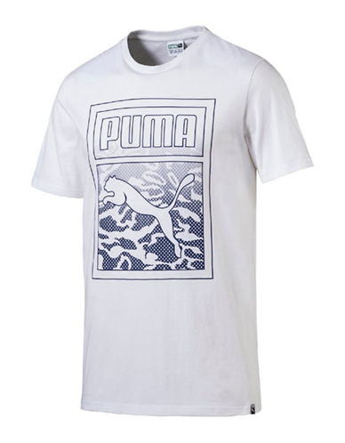 Puma Archive Graphic Logo Tee-WHITE-Medium
