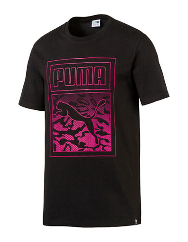 Puma Archive Graphic Logo Tee-BLACK-Large