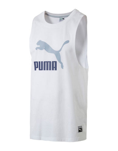 Puma Archive Logo Fashion Tank Top-WHITE-X-Large 89253110_WHITE_X-Large