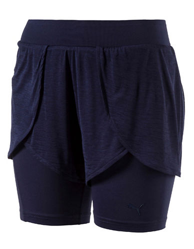 Puma Evo Two-In-One Shorts-PEACOCK BLUE-Large