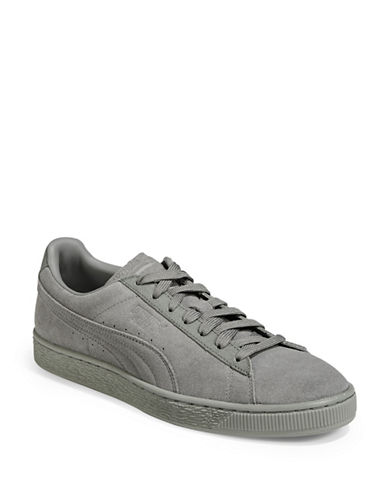 Puma Mens Suede Classic Sneakers-GREY-10.5