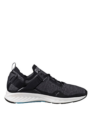 Puma Ignite Evoknit Lo Running Shoes-BLACK-7.5