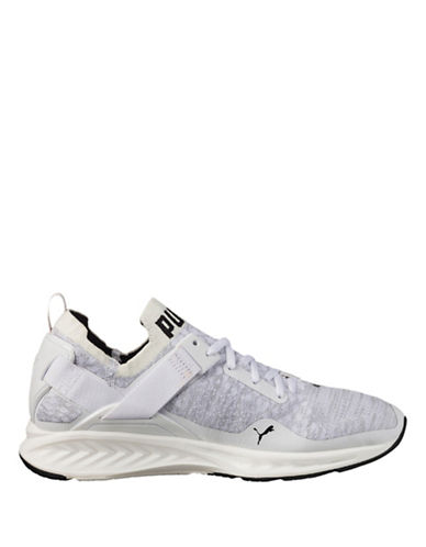 Puma Ignite Evoknit Lo Running Shoes-WHITE-9.5