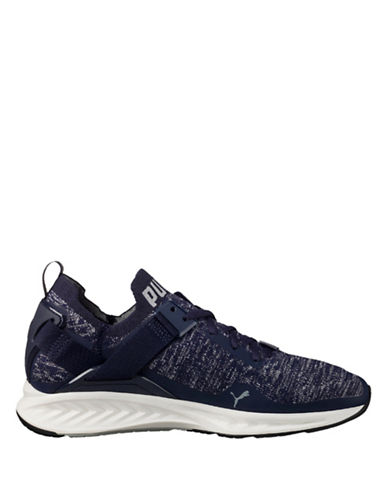 Puma Ignite Evoknit Lo Running Shoes-BLUE-9.5