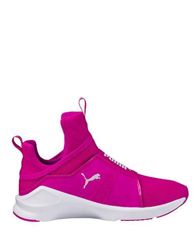 Puma Womens Fierce Core Mesh Slip-On Sneakers-PINK-8