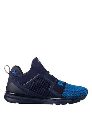 Puma Ignite Limitless Colourblock Running Shoes-BLUE-8.5