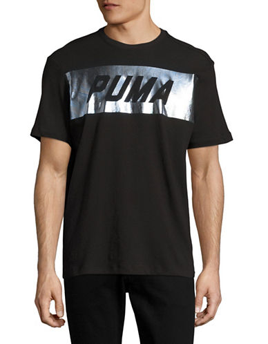 Puma Holographic Logo T-Shirt-BLACK-Medium 89076775_BLACK_Medium