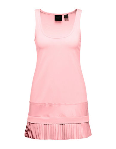 Puma Pleated Hem Jersey Tank-CRYSTAL ROSE-X-Small