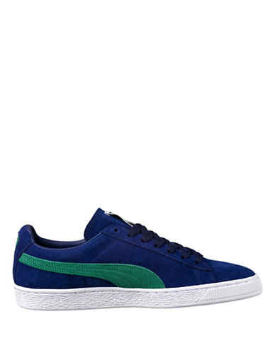 Puma Mens Suede Classic Sneakers-BLUE-9.5