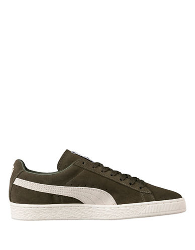 Puma Mens Suede Classic Sneakers-GREEN-8.5