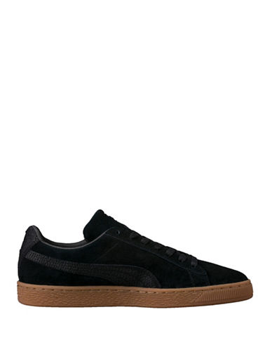 Puma Suede Classic Low-Top Sneakers-BLACK-9.5