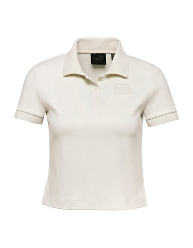 Puma Baby Cropped Polo Shirt-VANILLA ICE-Medium