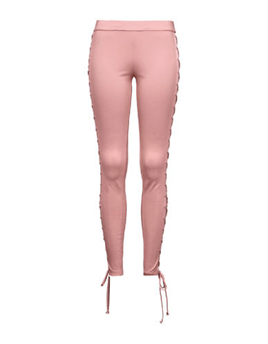 Puma FENTY x PUMA Boxing and Bomber Lacing Tights-SILVER PINK-Small