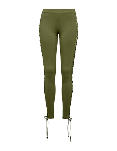Puma FENTY x PUMA Boxing and Bomber Lacing Tights-OLIVE BRANCH-Small