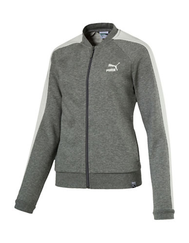 Puma Archive Logo T7 Track Jacket-GRAY-Medium