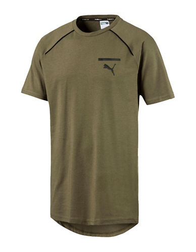 Puma Evo Core Drycell Tee-GREEN-Small