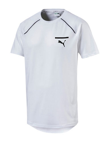 Puma Evo Core Drycell Tee-WHITE-Medium