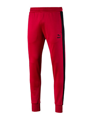 Puma Archive T7 Track Pants-RED-Small