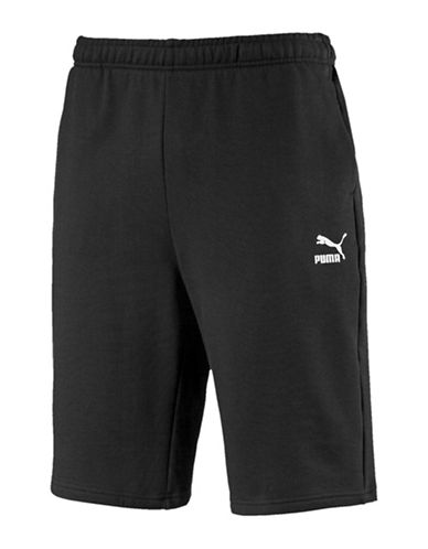 Puma Archive Logo Cotton Bermuda Shorts-BLACK-Small 90037264_BLACK_Small