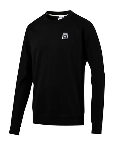 Puma Classics Crew neck Cotton Tee-BLACK-X-Large 89375580_BLACK_X-Large