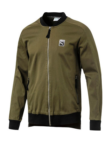Puma Classics T7 Woven Jacket-GREEN-X-Large