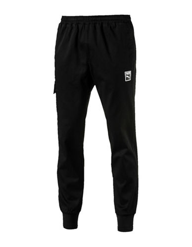 Puma Signature Woven Pants-BLACK-Medium