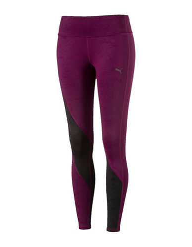 Puma Clash Tights-PURPLE-Small