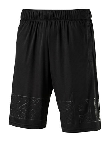 Puma Motion Flex Graphic Shorts-BLACK-Large