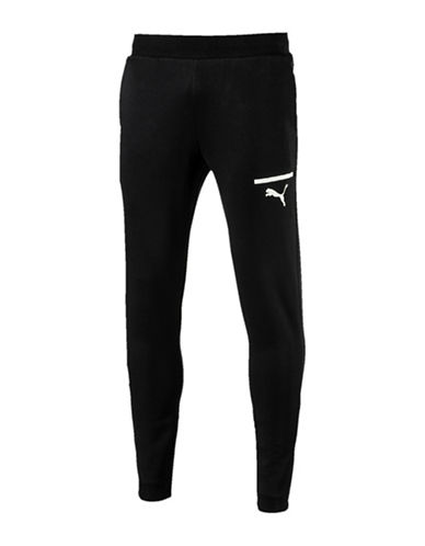 Puma Sporty Slim-Fit Sweatpants-BLACK-X-Large