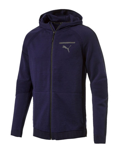 Puma Evoknit Move Hoodie-BLUE-Medium