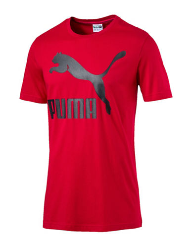 Puma Archive Graphic Logo Tee-RED-Large