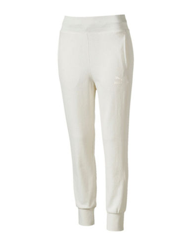 Puma Archive Logo T7 Jogger Pants-WHITE-Large
