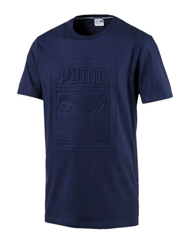 Puma Archive Embossed Logo T-shirt-BLUE-Medium 89375698_BLUE_Medium
