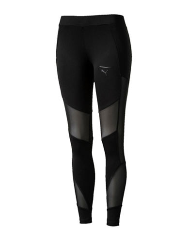 Puma Velvet Rope DryCELL Leggings-BLACK-Medium