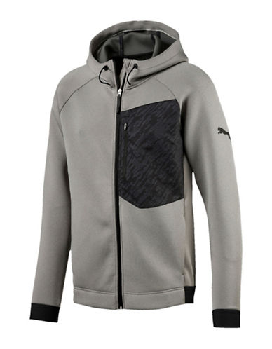 Puma Energy Full Zip Sweater-GREY-Large