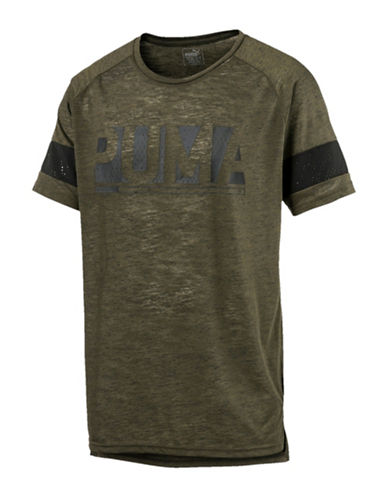 Puma Energy Crew Neck Tee-GREEN-Small