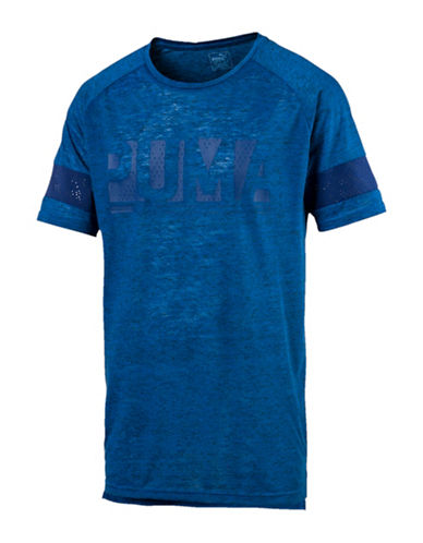 Puma Energy Crew Neck Tee-BLUE-Small
