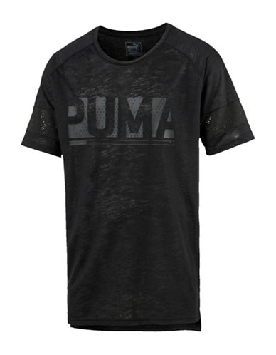 Puma Raglan Energy T-Shirt-BLACK-Small