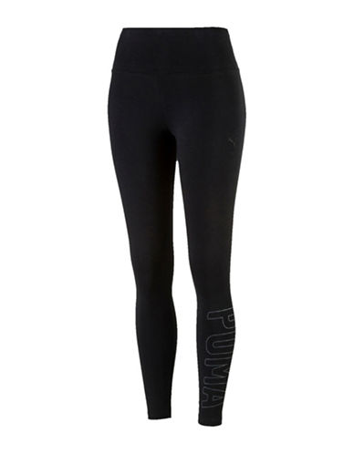 Puma Athletic Leggings-BLACK-Medium 89391983_BLACK_Medium